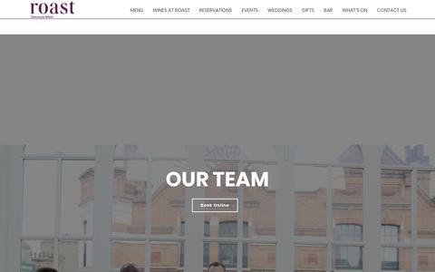 Screenshot of Team Page roast-restaurant.com - Our Team - Roast Restaurant - captured April 9, 2018