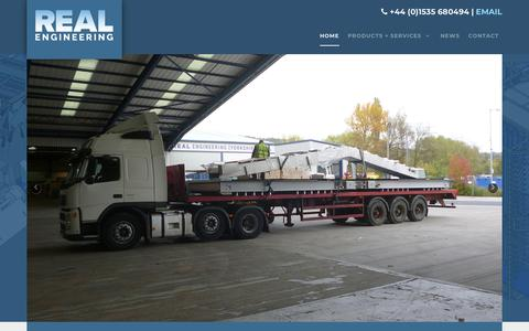 Screenshot of Home Page realengineering.co.uk - Real Engineering | Spiral and Conveyor System Services - captured Sept. 20, 2018