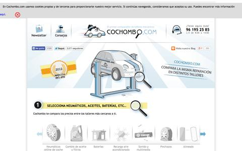 Screenshot of Home Page cochombo.com - Buscador   Comparador neumáticos online   Aceites online   Baterías - captured Jan. 28, 2015
