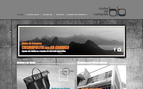 Screenshot of Home Page clubeblow.com - Clube Masculino de Compras Blō - captured Oct. 2, 2014