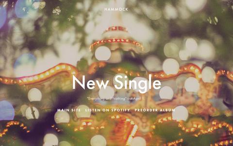 Screenshot of Home Page hammockmusic.com - Hammock - captured March 12, 2016