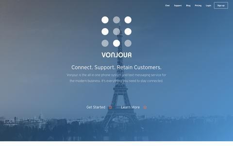 Screenshot of Home Page vonjour.com - Vonjour | A New Way To Say Hello - captured Dec. 4, 2015