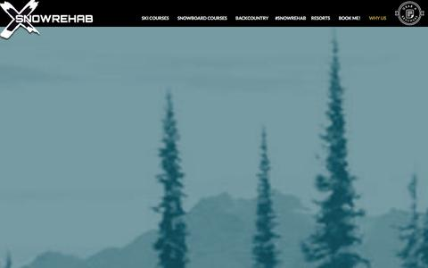 Screenshot of About Page snowrehab.com - Why Us | Instructor Courses in North America | Snow Rehab - captured Dec. 11, 2015