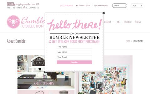 Screenshot of About Page bumblecollection.com - Diaper Bags, Baby Bags, Lunch Bags | Bumble Collection - captured Dec. 4, 2016