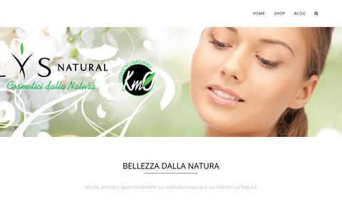 Screenshot of Blog lysnatural.com - Cosmetici Naturali, vegani e biologici - Lys Natural - captured July 23, 2017
