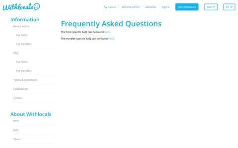 FAQ - Withlocals