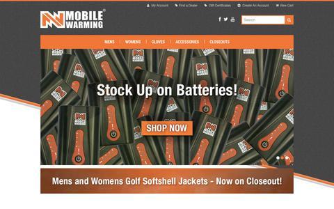 Screenshot of Home Page mobilewarminggear.com - Mobile Warming Gear - captured Sept. 30, 2014