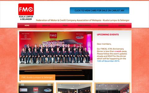 Screenshot of Home Page fmc.my - Federation of Motor and Credit Companies Association of Malaysia - Kuala Lumpur and Selangor - captured June 19, 2015