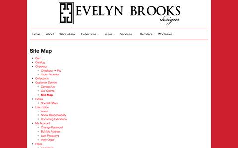 Screenshot of Site Map Page ebrooksdesigns.com - Site Map - - captured Oct. 3, 2014