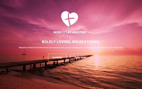 Screenshot of Home Page wolm.net - Word Of Life Ministries – Boldy loving. Boldly living. - captured Feb. 15, 2016