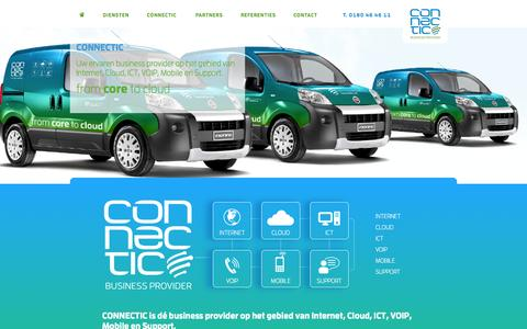 Screenshot of Home Page connectic.nl - Connectic business provider - captured Oct. 3, 2014