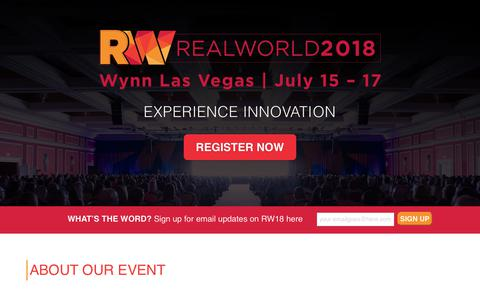 RealWorld 2018 Property Management Conference - RealPage