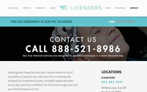 Screenshot of Contact Page licenders.com - Contact Licenders - captured July 14, 2016