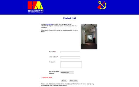 Screenshot of Contact Page hai-ltd.com - HAi-Ltd - captured Oct. 1, 2014