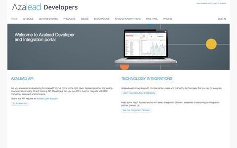 Azalead developer portal