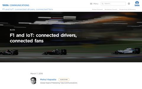 Screenshot of Testimonials Page tatacommunications.com - F1 & IoT: Connected Drivers, Connected Fans Globally   Tata Communications - captured Dec. 18, 2019