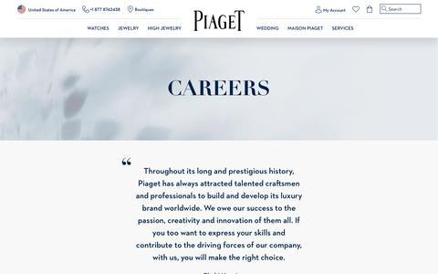 Screenshot of Jobs Page piaget.com - Careers - Piaget Recruitment & Applications - captured Sept. 3, 2018
