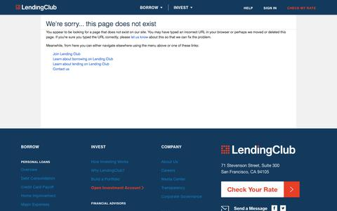 We're sorry... this page does not exist | LendingClub