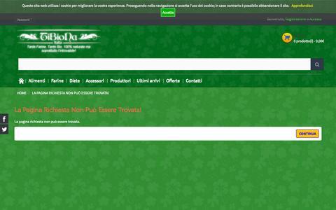 Screenshot of Login Page tibiona.it - La pagina richiesta non può essere trovata! - captured Sept. 28, 2015