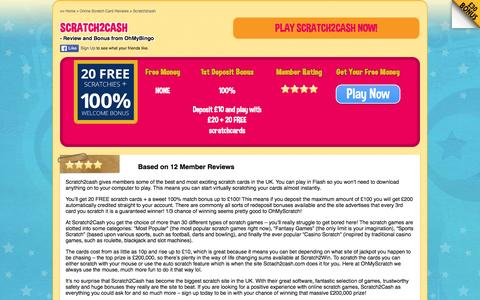 Screenshot of ohmybingo.com - Scratch2Cash | Play Online Scratch Cards with Scratch2Cash.com - captured March 19, 2016
