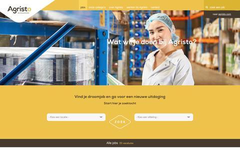 Screenshot of Jobs Page agristo.com - Agristo - Jobs - captured Jan. 15, 2018