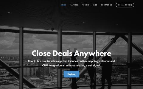 Screenshot of Home Page roobiq.com - Roobiq - captured July 13, 2018