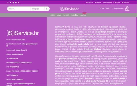 Screenshot of Press Page iservice.hr - O nama | iService.hr - captured Aug. 7, 2016