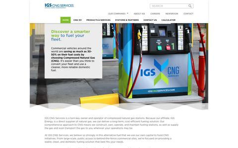 Screenshot of Home Page igscngservices.com - CNG Services   Compressed Natural Gas   IGS CNG Services - captured July 26, 2018