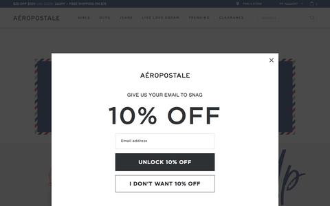 Guys and Girls Clothes, Hoodies, Graphic Tees and Jeans   Aeropostale