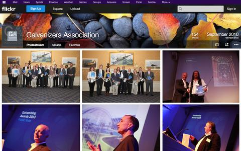 Screenshot of Flickr Page flickr.com - Flickr: Galvanizers Association's Photostream - captured Oct. 22, 2014