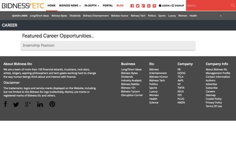 Screenshot of Jobs Page bidnessetc.com - Careers - Bidness Etc - captured Sept. 18, 2014