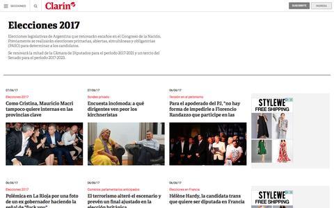 Elecciones 2017: noticias – clarin.com