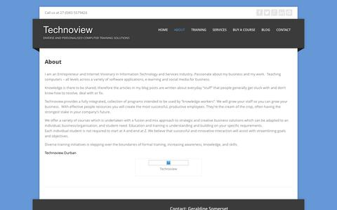 Screenshot of About Page technoviewdurban.co.za - About   Technoview - captured Feb. 23, 2016