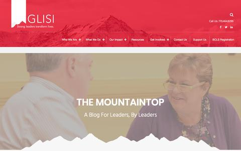 Screenshot of Blog glisi.org - The Mountaintop – GLISI - captured Sept. 26, 2018