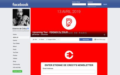 Screenshot of Signup Page facebook.com - Etienne de Crécy | Facebook - captured July 1, 2018