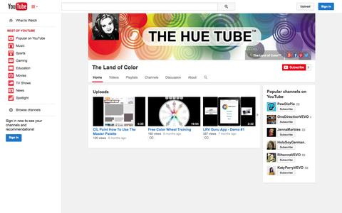 Screenshot of YouTube Page youtube.com - The Land of Color  - YouTube - captured Nov. 2, 2014