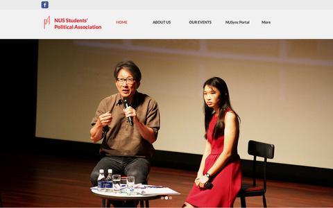 Screenshot of Home Page nuspa.org - NUS Students' Political Association - captured Nov. 15, 2018