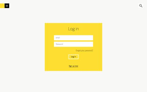 Screenshot of Login Page fontshop.com - FontShop | Log in - captured Oct. 26, 2016
