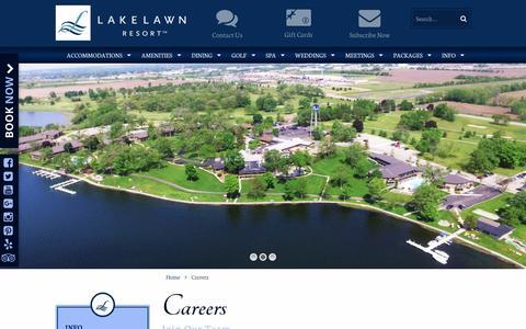 Screenshot of Jobs Page lakelawnresort.com - Careers - Lake Lawn Resort - captured May 14, 2017