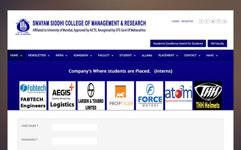 Screenshot of Login Page sscmrmba.in - Login - captured Feb. 15, 2017