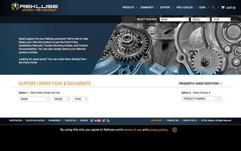 Screenshot of Support Page rekluse.com - Support | Rekluse - captured Nov. 18, 2016