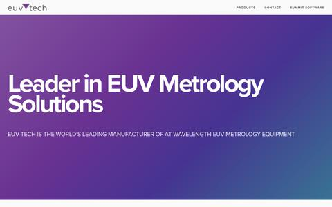 Screenshot of Products Page euvtech.com - EUV Tech - captured July 15, 2018