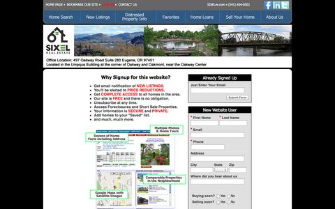 Screenshot of Login Page sixelre.com - SIXEL Real Estate - captured Oct. 26, 2014