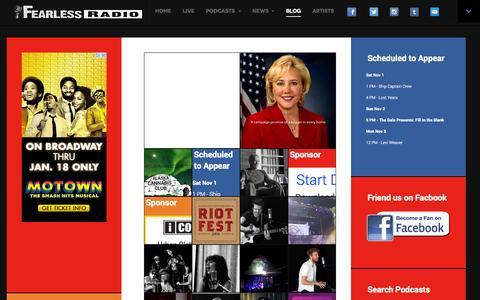 Screenshot of Blog fearlessradio.com - Fearless Radio Blog - Fearless Radio - captured Nov. 3, 2014