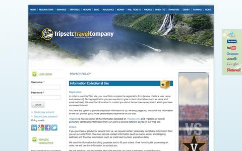 Screenshot of Privacy Page tripsetc.com - Privacy Policy - Travel Deal Websites  | Tripsetc - captured Sept. 22, 2014