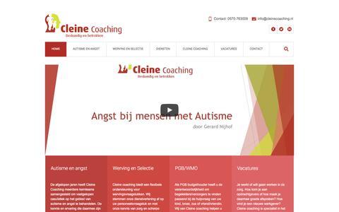 Screenshot of Home Page cleinecoaching.nl - Vanuit de zorg, voor de zorg - Cleine Coaching - captured May 17, 2017