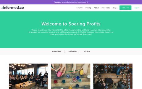 Screenshot of Blog informed.co - Soaring Profits | An eCommerce & Repricing Blog by Informed.co - captured March 6, 2018