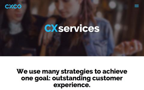 Screenshot of Services Page cxco.co.uk - CXCo|Customer Experience Services - captured Nov. 1, 2014