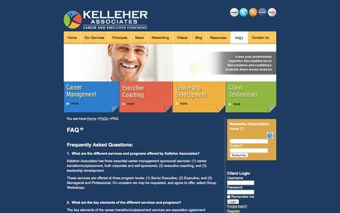 Screenshot of FAQ Page kelleherllc.com - FAQ   Kelleher Associates - captured Feb. 2, 2016