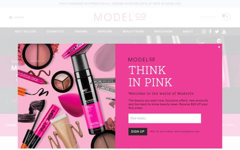 Screenshot of Home Page modelcocosmetics.com - ModelCo | Iconic Australian beauty - captured Oct. 11, 2017